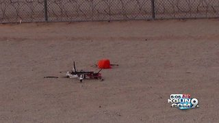 Drone carrying drugs, cellphones crashes at Arizona prison - Video