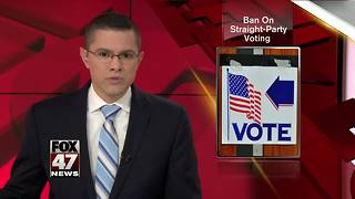 Michigan resisting challenge to ban on straight-party voting - Video