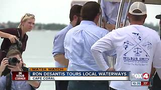 Ron DeSantis tours algae waters