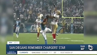 San Diegans remember Chargers' star