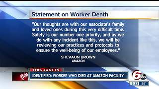 Amazon employee killed in forklift accident at Plainfield facility identified - Video