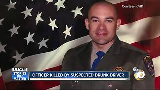 CHP Officer killed by suspected drunk driver - Video