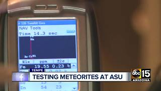 Scientists test for meteorites at ASU - Video