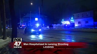 Man hospitalized after being shot in Lansing