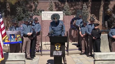 Full news conference: Colorado State Patrol honors memory of Trooper killed during Wednesday's blizzard