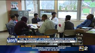 Gentleman's Squad teaches students respect, hard work at Franklin Middle School