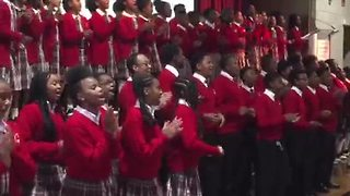 Baltimore's Cardinal Shehan School Choir performs at Fall lunch - Video