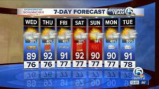 South Florida Wednesday afternoon forecast (7/11/18) - Video