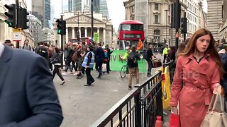 Extinction Rebellion protesters block traffic outside Bank of England in London