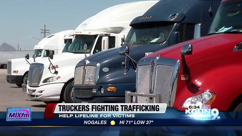 Truck drivers fighting human trafficking