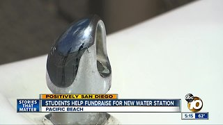 Pacific Beach students help fundraiser for new water station