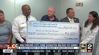 Baltimore City Fire Department donates $8,500 to GBMC - Video