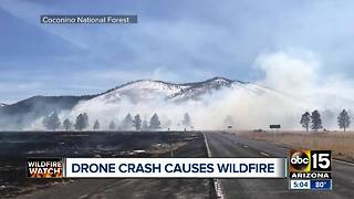 335-acre wildfire north of Flagstaff believed to be started by drone - Video