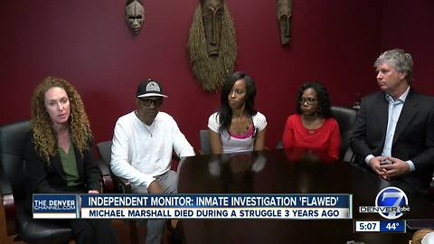 Independent monitor criticizes Denver sheriff's department over death of inmate Michael Marshall