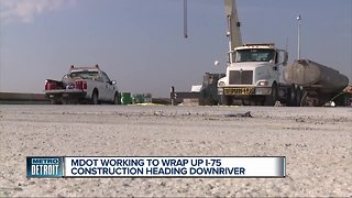 When will I-75 completely re-open at Rouge River project?