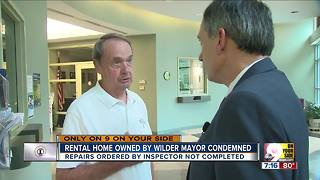 Rental home owned by Wilder mayor condemned - Video