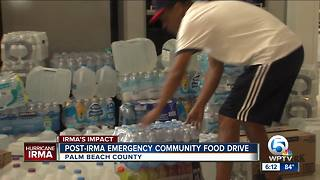 Post-Irma emergency community food drive continues - Video