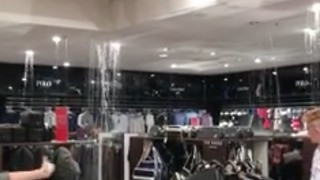 House of Fraser Flooded Inside Shopping Centre