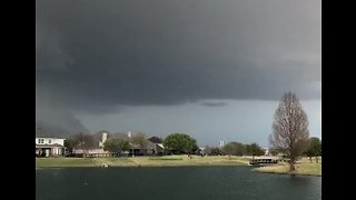 Storm Clouds Gather Over Texas Neighborhood
