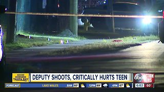 17-year-old in critical condition after being shot by deputy