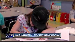 Idaho ranks last in Pre-K participation