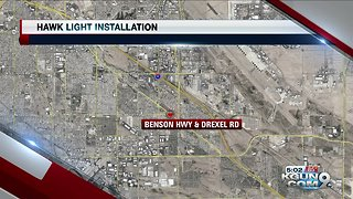 HAWK signal installed at Benson Highway and Drexel Road