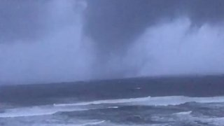 Waterspout Spotted in Orange Beach as Hurricane Nate Approaches - Video