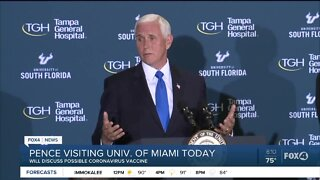 Vice President Mike Pence to discuss COVID-19 vaccine
