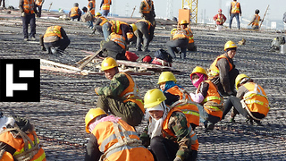 1,500 Chinese Workers Built A Railroad In Only 9 Hours - Video