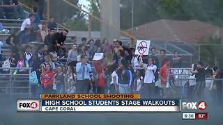 School walkouts take place in Southwest Florida to protest school shooting