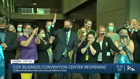 Cox Business Convention Center reopening after multi-million dollar renovations