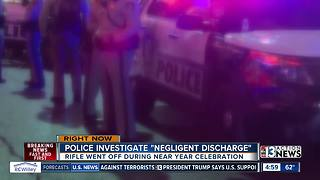 "Las Vegas police investigate ""negligent discharge"" from officer's rifle during New Year's celebration - Video"