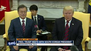President Trump meets with Moon Jae-in