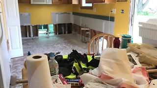Harrisonville homeowners rebuild, clean up after flooding - Video
