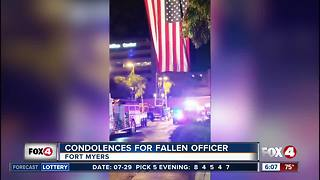 Fort Myers Police show support for fallen brother - Video