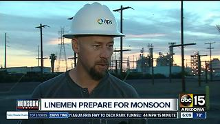 APS linemen prepare for monsoon - Video