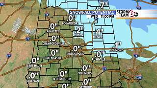 Snow showers end. Cold settles in! - Video