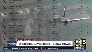 When you should book your holiday travel