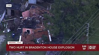 1 firefighter, 2 others injured in house explosion in Manatee County