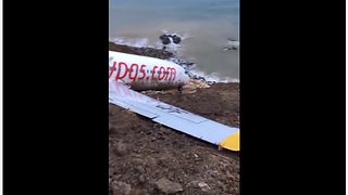 Footage Shows How Close Plane Was To Diving Into The Black Sea - Video