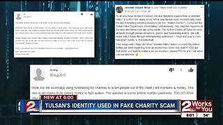 Tulsa woman says scammer using identity to solicit donations - Video