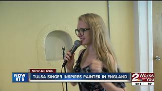 Tulsa Singer Inspires UK Painter - Video