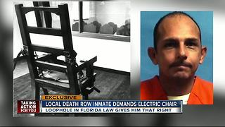 First death row inmate requests electric chair - Video