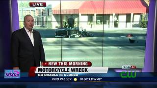 Motorcycle vs. motorcycle crash shuts down SB Oracle - Video
