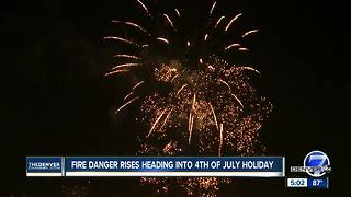Fire danger rises across Front Range heading into Fourth of July holiday - Video