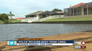 Body pulled from Cape Coral canal Monday - Video