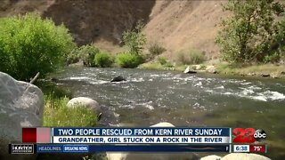 Two people rescued from Kern River Sunday
