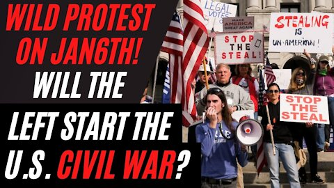 The Wild Protest on January 6, Mike Pence, Washington DC, the Start of Civil War in America