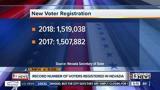 Nevada sets registered voter record, nonpartisan voters reach all-time high