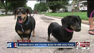 Woman finds bugs in her dog food